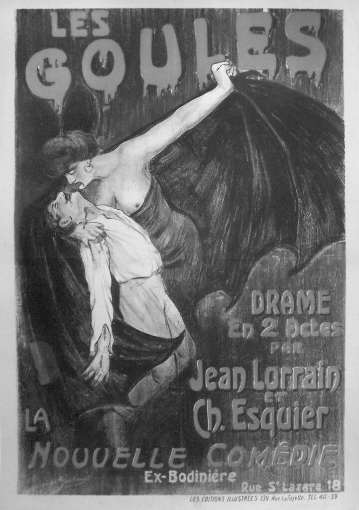 Affiche du Grand-Guignol, Les Goules de Jean Lorrain et Ch. Esquier, s.d.