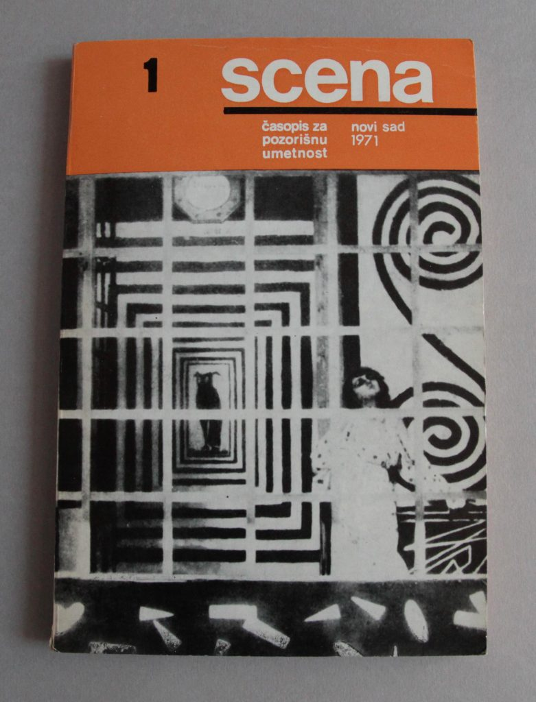 Scena, n°1, 1971, Serbie, couverture
