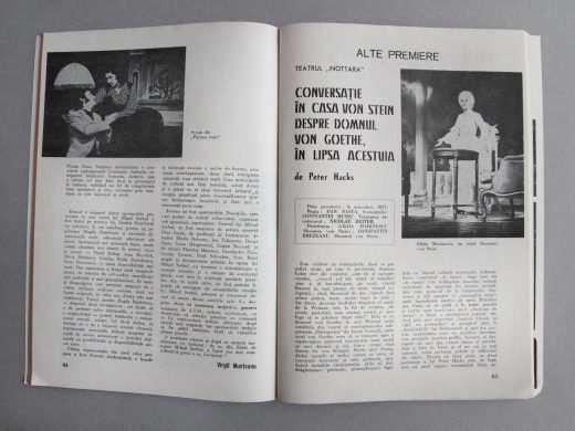 Teatrul, n°11, 1977, Roumanie, pages 64 et 65