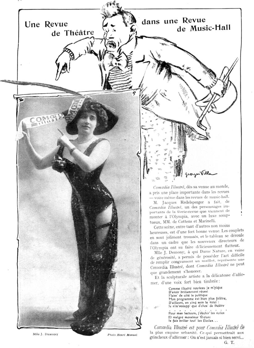 """G. Talmont """"Une revue de théâtre dans une revue de music-hall"""""""
