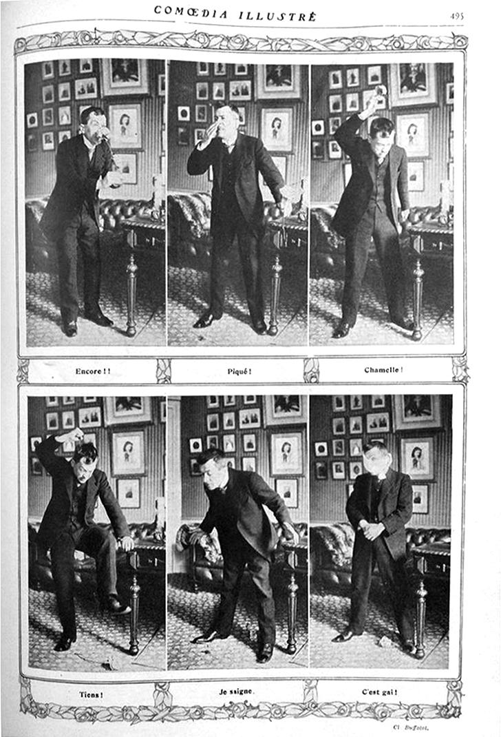 """""""La rose, monomime de et par Galipaux"""", Comoedia illustré, 20 décembre 1913"""