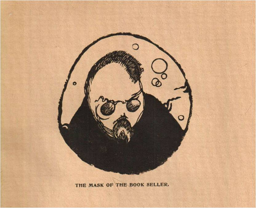 """The Mask of the book seller"", The Mask, vol. 2, n°1-3, juillet 1909, gravure sans pagination"