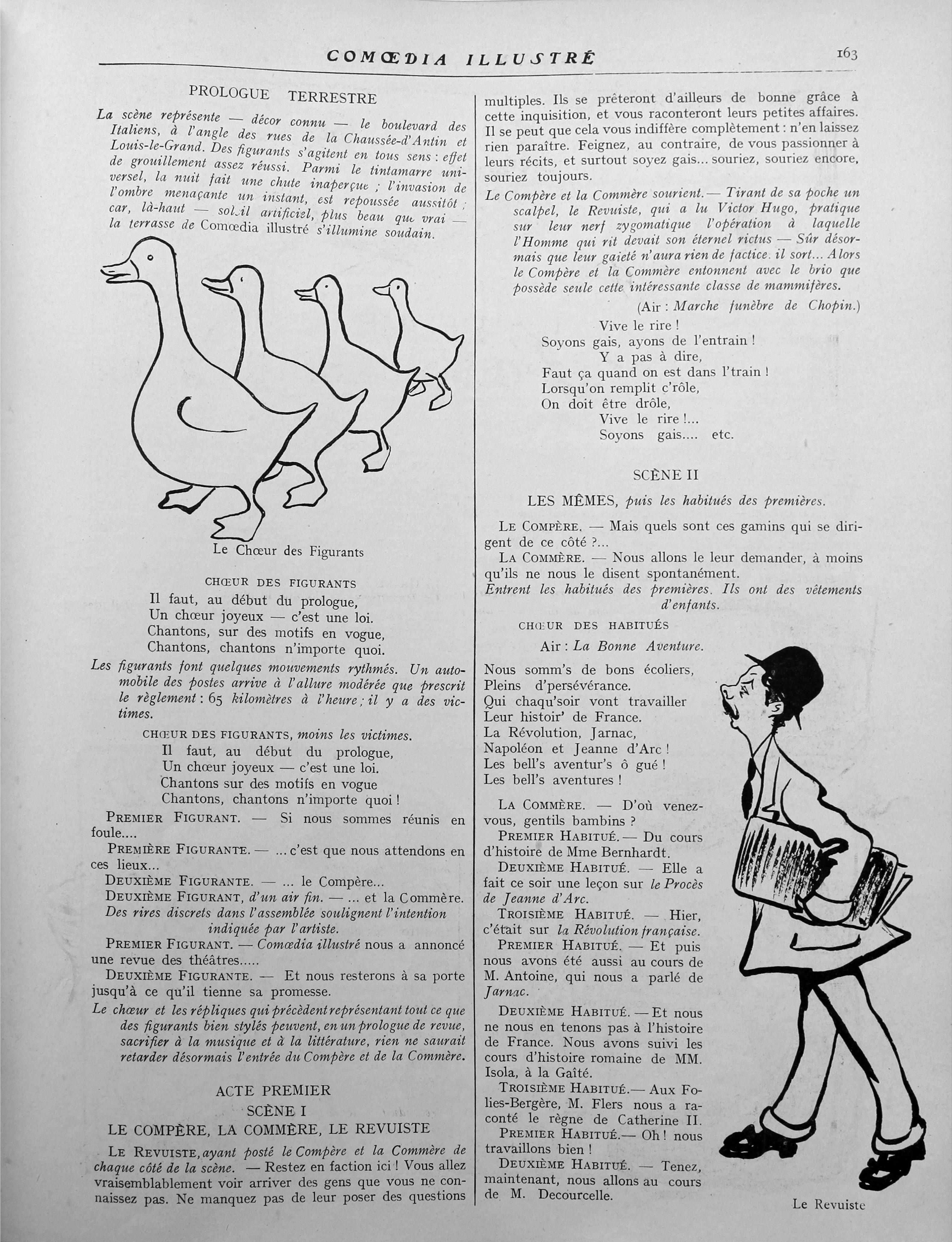 """G. Talmont """"Comment Madame Mariquita monte un Ballet"""", Comoedia illustré, 15 décembre 1908, p. 21-23"""